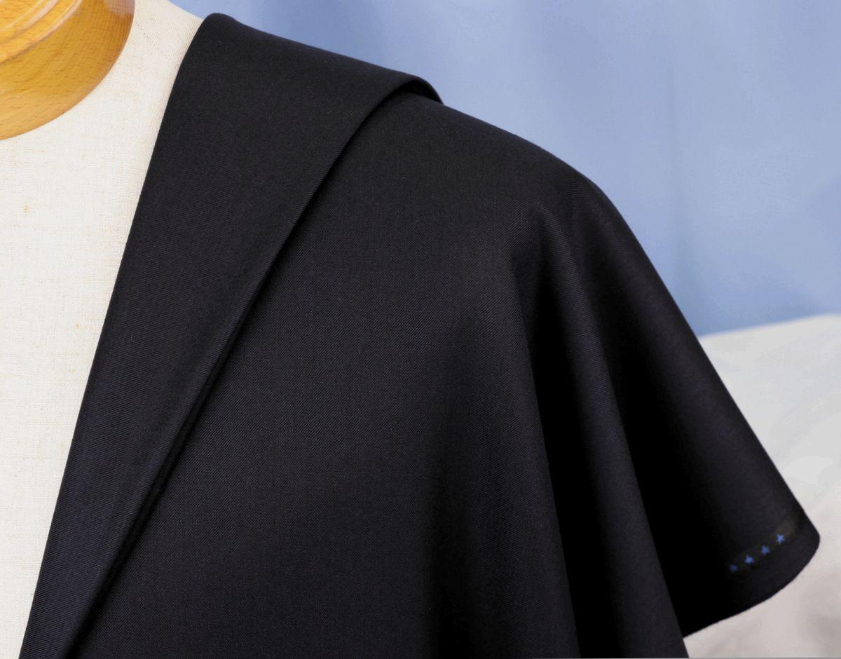★ドーメル社の世界最高級「ロイヤルキビック」濃紺無地・服地価格200万円・まるで羽衣