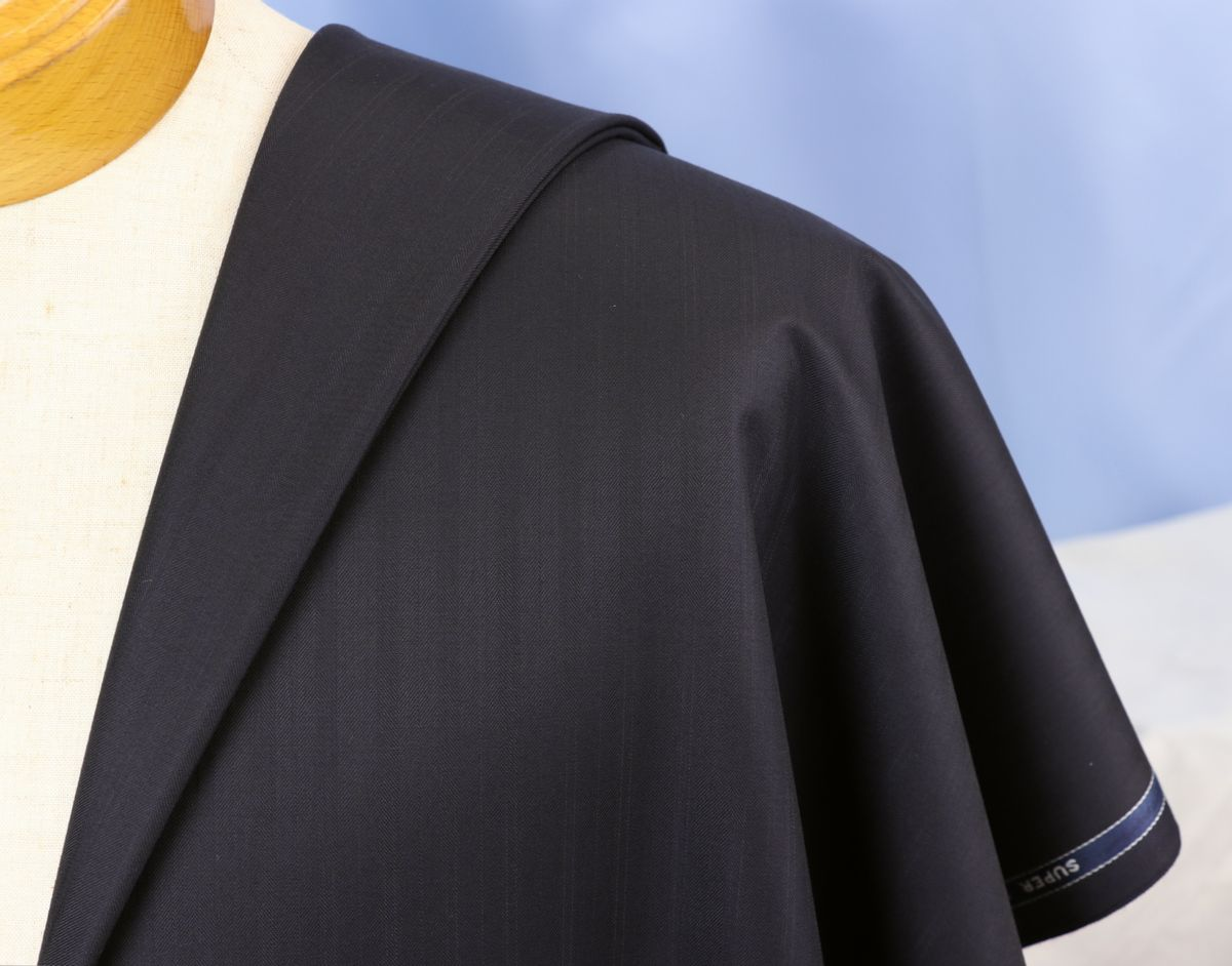 ■スキャバル幻の「エクスプレッション」濃紺織柄・服地価格200万円・未体験の心地良さです。